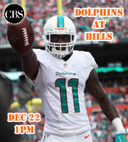 Miami Dolphins at Buffalo Bills, Dec 22 @ 1pm.