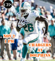 Chargers at Dolphins @ 1 pm EST (CBS)