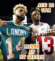 Preseason Game 1 - Dolphins at Giants