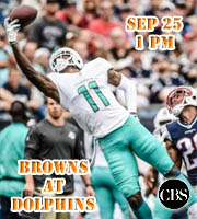 Week 3: Browns at Dolphins (1 pm)