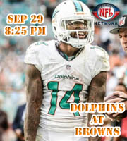 Week 4: Miami Dolphins at Cincinatti Bengals (8:25 pm on NFL Network)