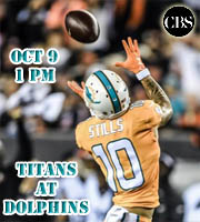 Week 5: Tennessee Titans at Miami Dolphins (1 pm EST on CBS)