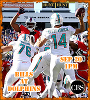 Week 2: Bills at Dolphins, Sun @ 1pm